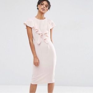 Ruffle wiggle dress